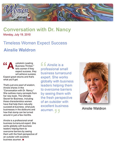 Timeless Women Expect Success - Ainslie Waldron